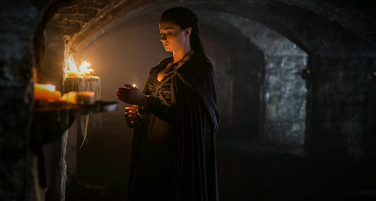 Sansa in the Crypt of Winterfell