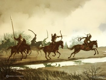 Dothraki horselords attacking