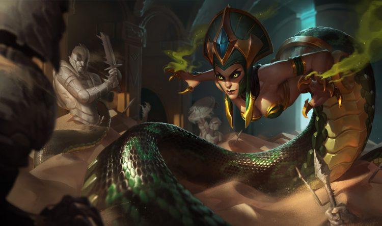 Cassiopeia League of Legends Splash Art