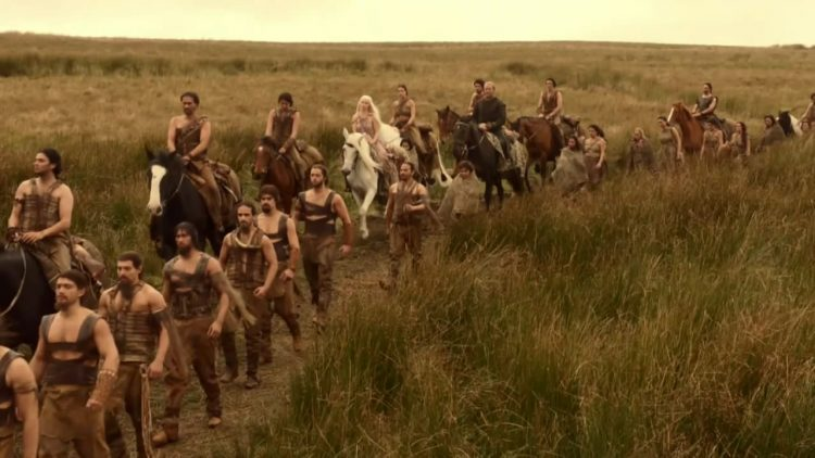Dothraki travelling through the Dothraki Sea