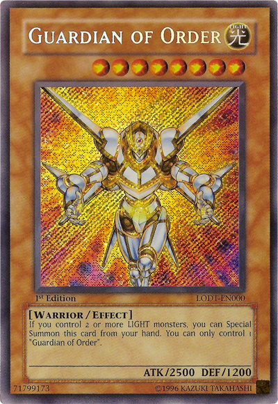 Yugioh Guardian of Order