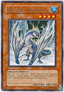 Blizzard Dragon, one of the best level 4 monsters in Yugioh
