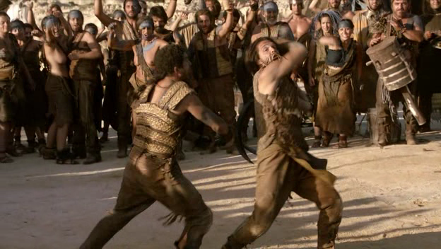 Dothraki warriors fighting