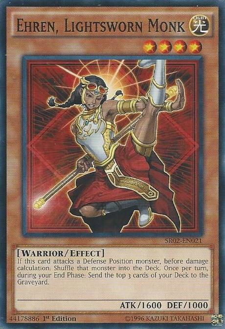 Ehren Lightsworn Monk, one of the best level 4 monsters in Yugioh