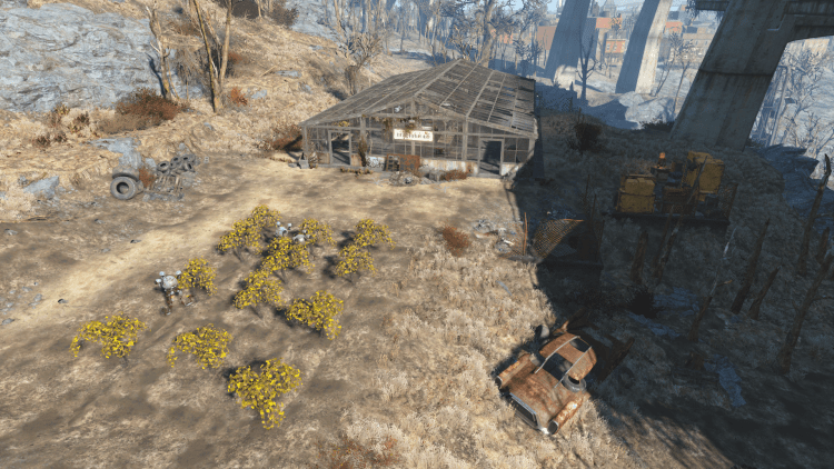 Gray Garden in Fallout 4, one of the biggest settlements