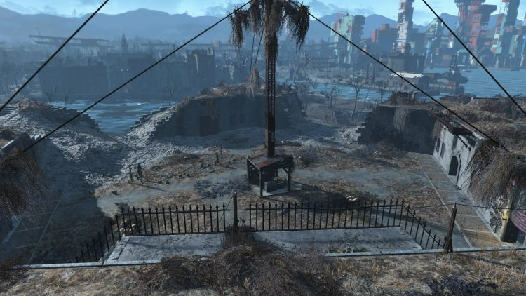 The Castle in Fallout 4, one of the biggest settlements