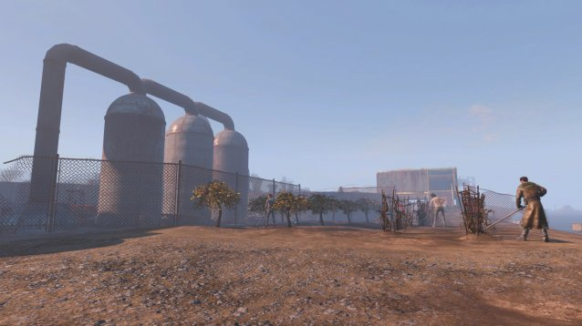 Warwick Homestead in Fallout 4, one of the biggest settlements