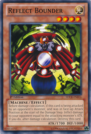 Reflect Bounder, one of the best level 4 monsters in Yugioh