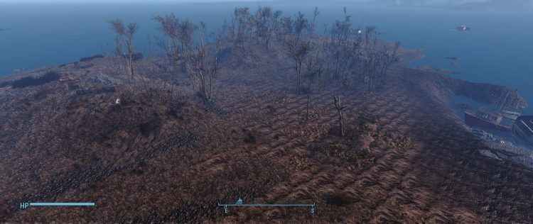 Spectacle Island in Fallout 4, one of the biggest settlements