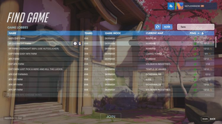 Overwatch Custom Browser
