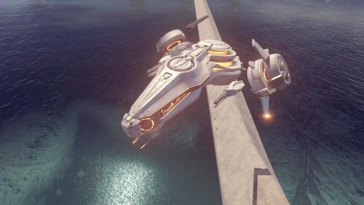 Captain Hestro in his Phaeton, Halo 5 Warzone Boss