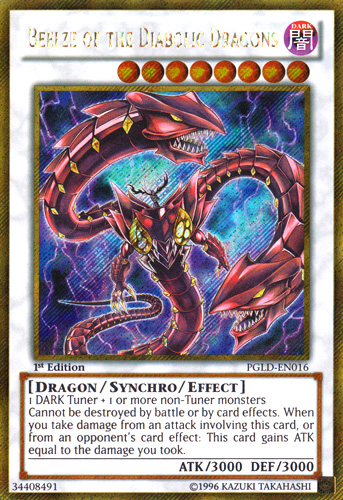 Beelze of the Diabolic Dragons, Yugioh Dragon type monster