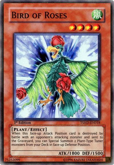 Bird of Roses, Yugioh Plant type monster