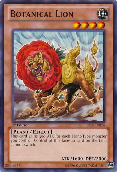 Botanical Lion, Yugioh Plant type monster