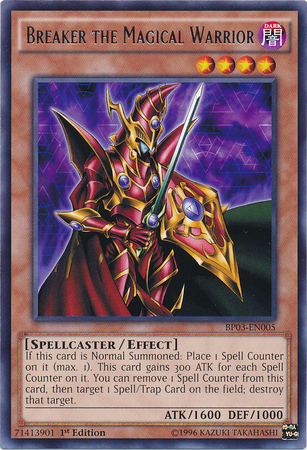 Breaker the Magical Warrior, Yugioh Spellcaster Type Monster