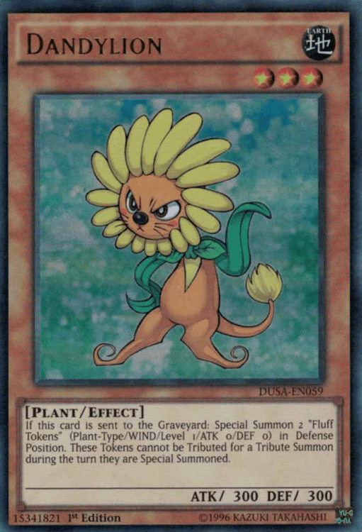 Dandylion, Yugioh Plant type monster
