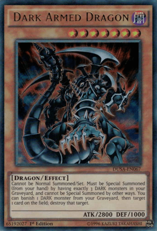 Dark Armed Dragon, Yugioh Dragon type monster