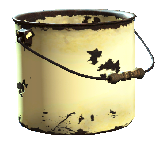 Bucket item in Fallout 4, useful junk
