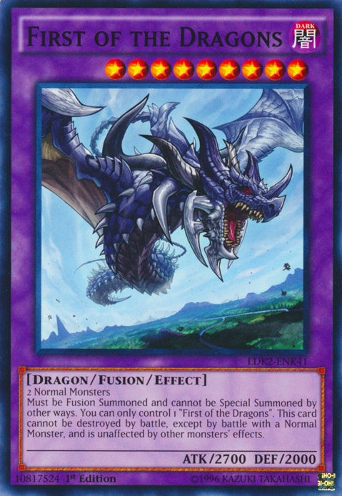 First of the Dragons, Yugioh Dragon type monster