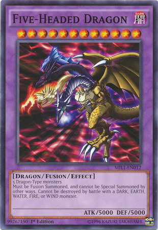 Five-Headed Dragon, Yugioh Dragon type monster
