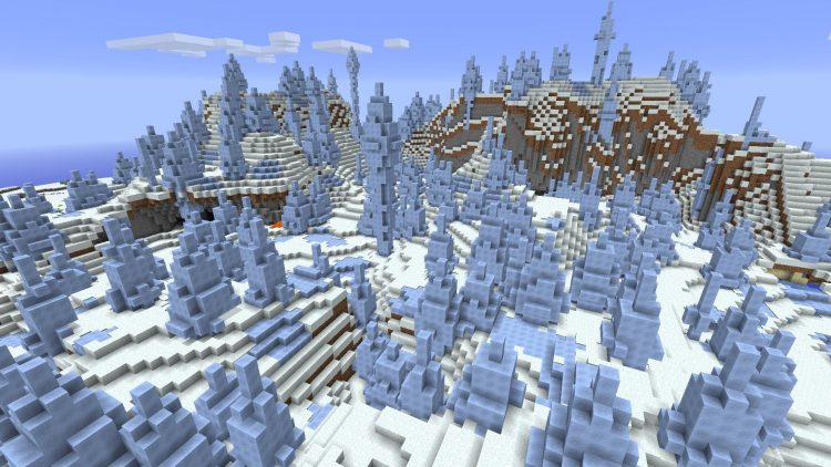 The Ice Plains Spikes Minecraft Biome
