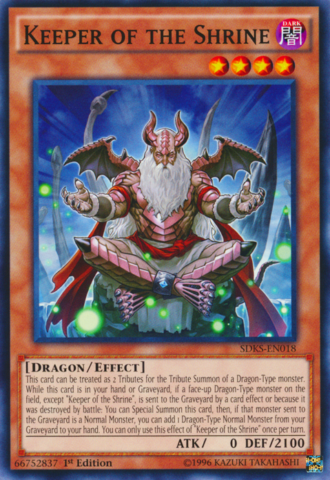 Keeper of the Shrine, Yugioh Dragon type monster
