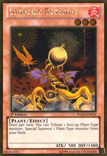 Lonefire Blossom, Yugioh Plant type monster