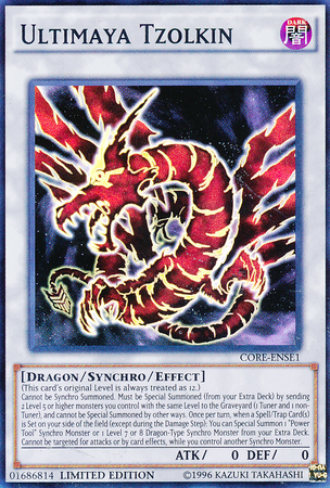 Ultimaya Tzolkin, Yugioh Dragon type monster