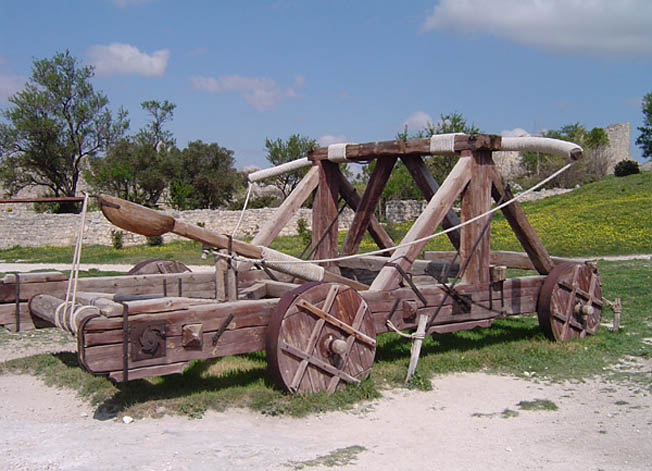 Catapult, an early siege weapon