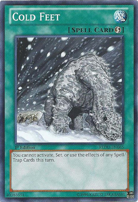 Cold Feet, one of the worst Yugioh cards