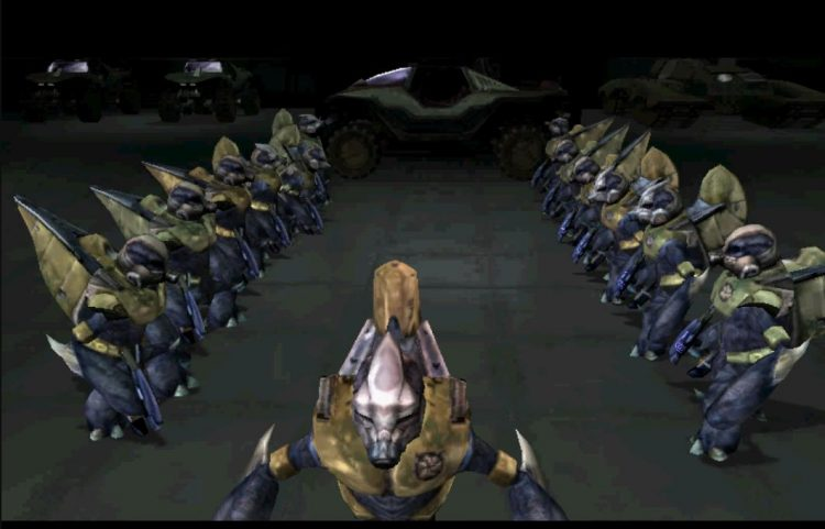 A group of Halo Grunts
