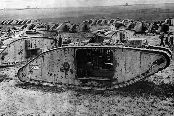 The Mark 1 Tank, the earliest tank to see combat