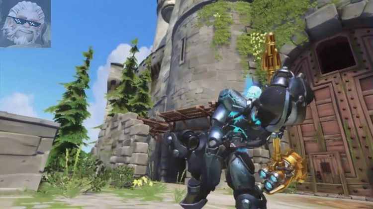 Reinhardt using his ultimate ability