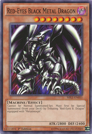 Red-Eyes Black Metal Dragon, one of the worst Yugioh cards