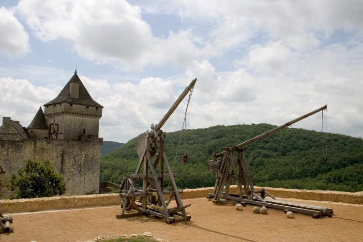 Trebuchet, an early siege weapon