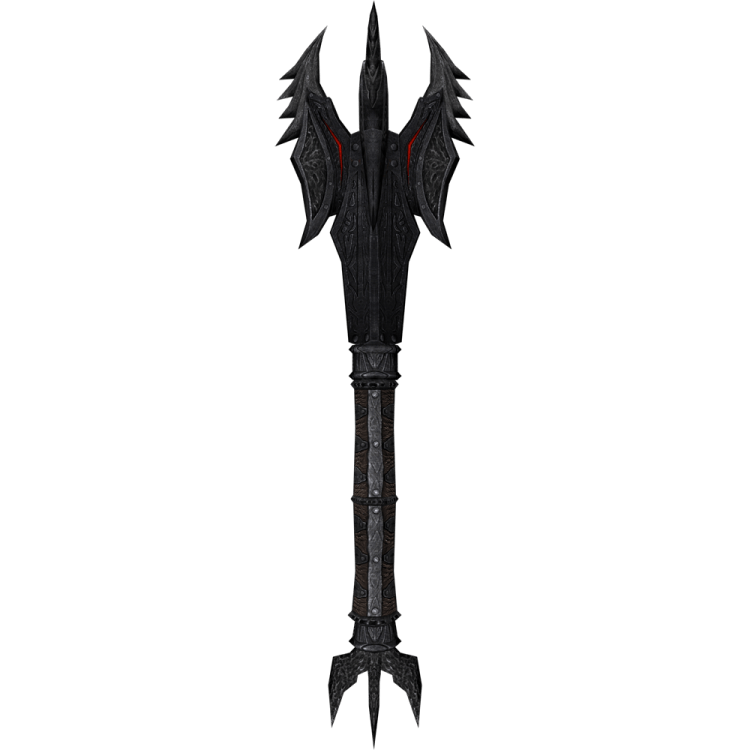 Daedric Mace, one of the best maces in Skyrim