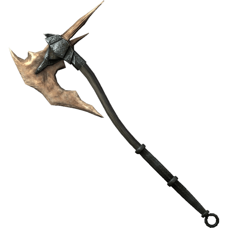 Dragonbone Battleaxe, the best battleaxe in Skyrim!