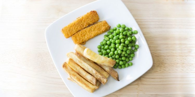 Fish fingers, Chips & Peas