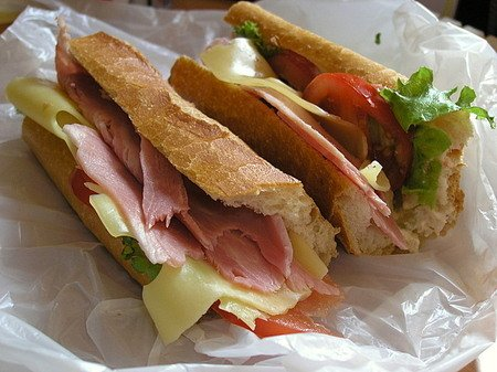 French Stick Sandwiches