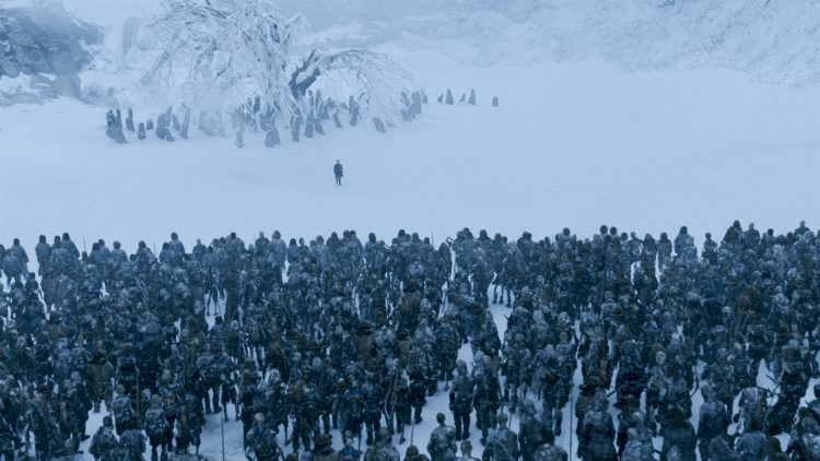 Bran sees the White Walker army in the Land of Always Winter