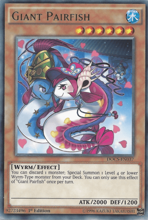 Giant Pairfish, one of the best Yugioh Wyrm type monsters