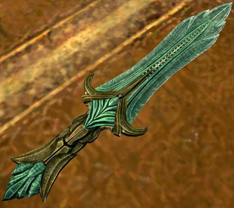 Glass dagger, one of the best daggers in Skyrim