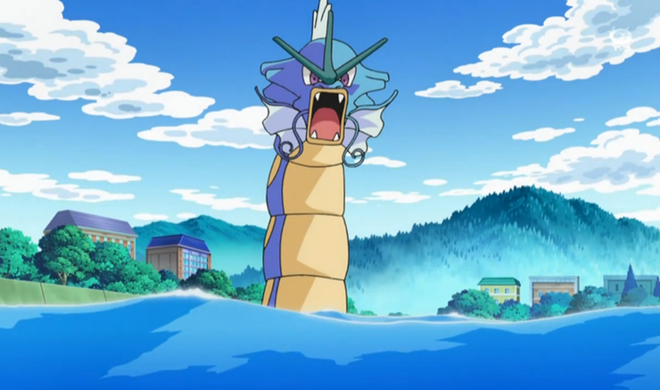 Gyarados, one of the most intimidating Pokemon
