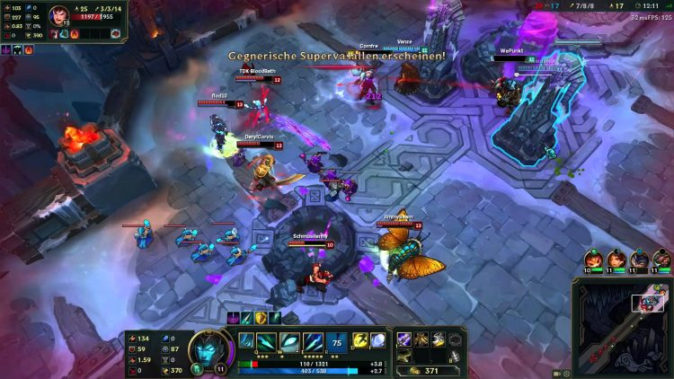 A team-fight in ARAM on the Howling Abyss