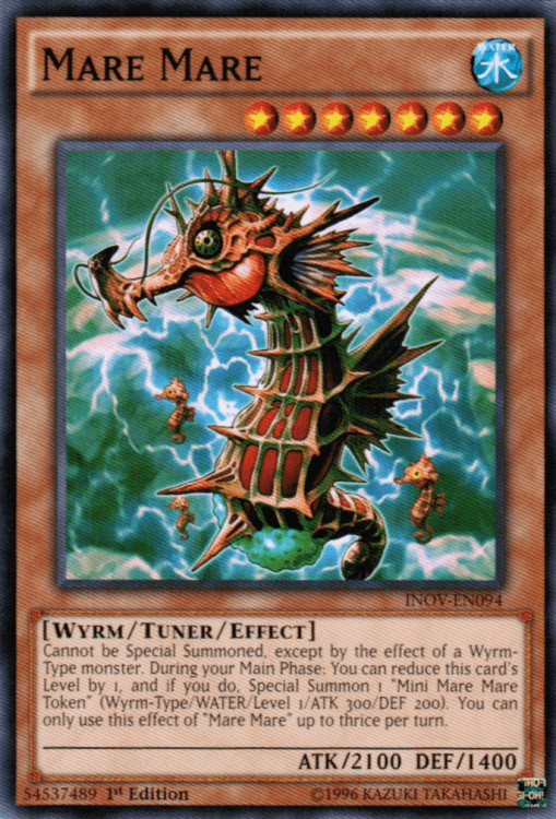 Mare Mare, one of the best Yugioh Wyrm type monsters