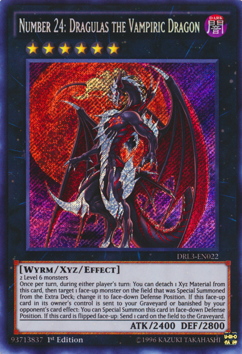 Number 24: Draculas the Vampiric Dragon, one of the best Yugioh Wyrm type monsters