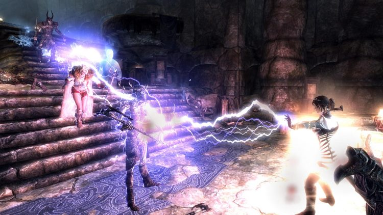 Chain Lightning, a Skyrim Destruction spell