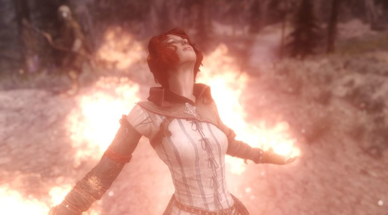 Fire Storm, a Skyrim Destruction spell
