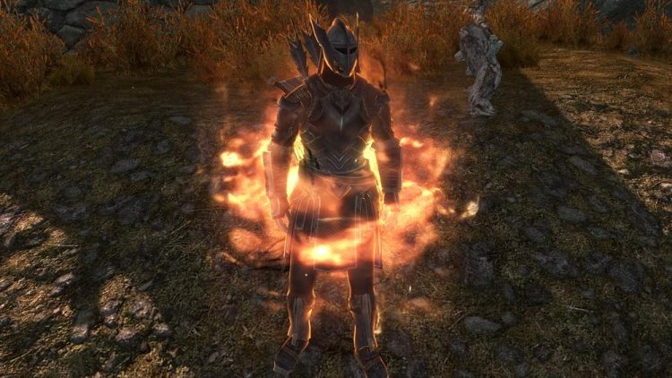 Flame Cloak, a Skyrim Destruction spell