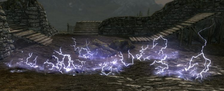 Wall of Storms, a Skyrim Destruction spell
